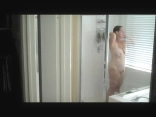 Spying On A Mature Mom In The Shower