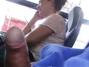 Flashing His Cock To Mature Woman