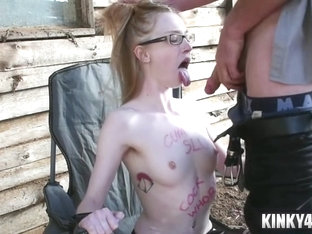 Petite Submissive Bondage And Cumshot