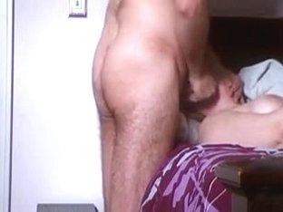Wife Acquires Throat Spunk Flow Whilst Masturbating