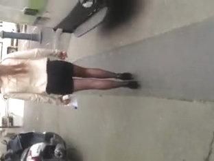 Jolie Jambes 2 Mini Jupe Rennes Sexy Legs Nylon Heels