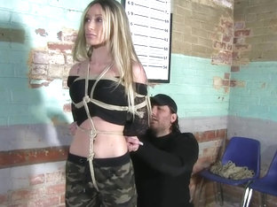 Military Girl Zoey Bondage Training